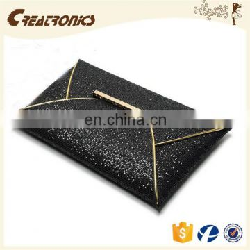 CR passed european test colorful convenient envelope shaped ladies clutch bag shining pattern leather handbag factory