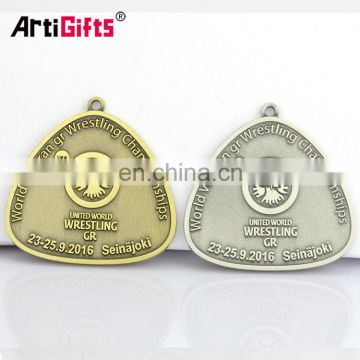 Metal Antique World Veteran Wrestling Championship Medals For Honor