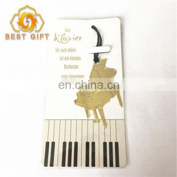 Supply Customized Piano Shaped Creative Metal Bookmarks