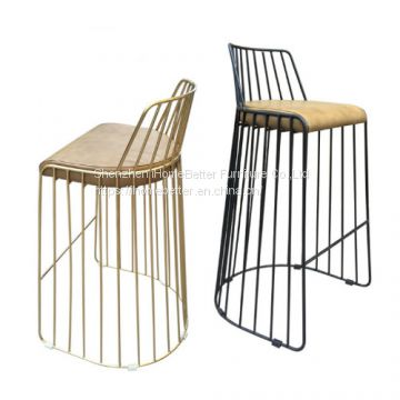 Fabulous Nordic Hollow Creative Vintage Black Wire Chair Wrought Inzonedesignstudio Interior Chair Design Inzonedesignstudiocom