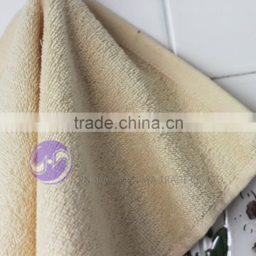 2015 china wholesale cream-coloured dyed cotton terry cloth small second hand towels