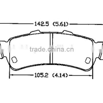 D792 18026447 for CADILLAC CHEVROLET GMC truck brake pad of rear