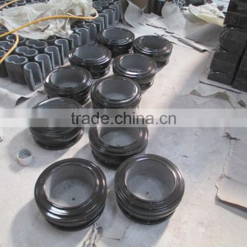 Black granite flower pot for cemetery