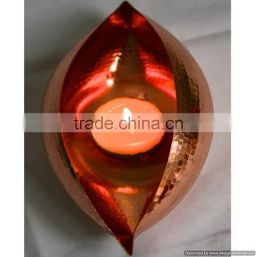 copper plated wall fancy tealight holder