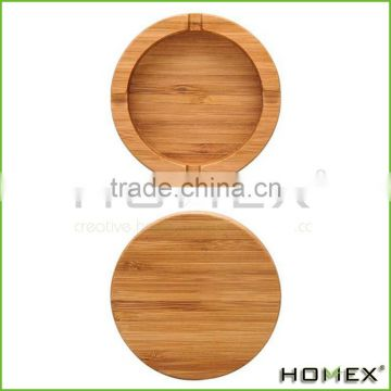 Bamboo Tabletop Ashtray Cigarette Ashtray Homex BSCI/Factory