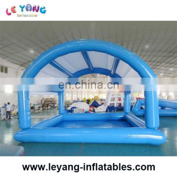 Commercial grade rectangular water pool with tent sunshade / 6m inflatable pool with roof