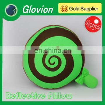 New design Reflective candy shape Noctilucent pillow