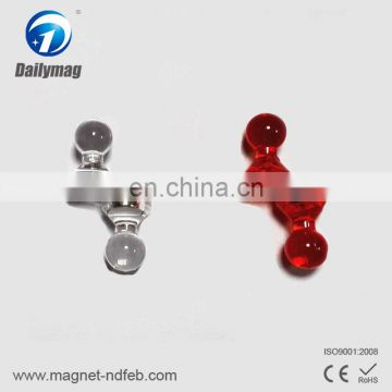 Assorted Red Magnetic Push Pin N42 For Map,Paper or memo