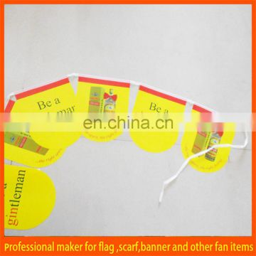 cheap paper bunting advertising banner