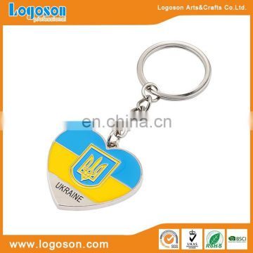 Competitive price matt silver finishing keychain metal keyring wholesale