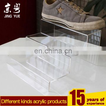 Fashion Shop Supplies Pmma Plexiglass POS Display Stand Acrylic Shoes Display Rack