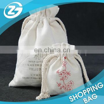 Cheap Custom Size Eco Friendly Reusable Drawstring Plain Blank Canvas Cotton Laundry Bags