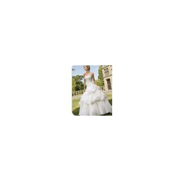 Wedding Wear, Evening Gown with Italian Organza, Charming Lace (61028)