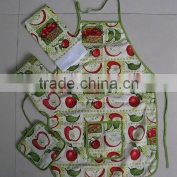 Kids Kitchen Apron And Oven Mitt, Italian Kitchen Towels And Pot Mitts Set
