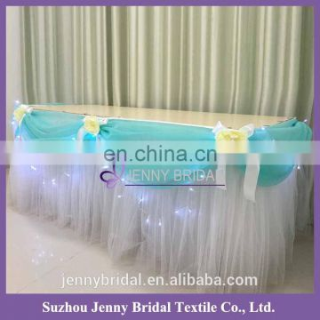 TC141D wholesale tulle table skirting designs for wedding