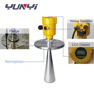 non contact liquid radar level sensor measurement