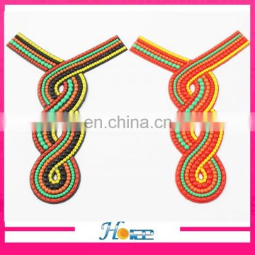 wholesale cheap lady shoe patch decoration PVC soft sandal rubber upper