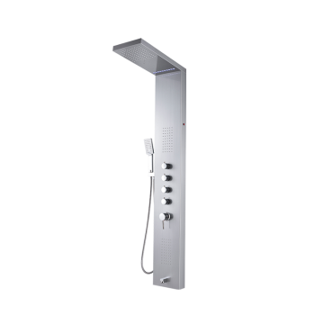 Bathroom Stainless Steel Waterproof Shower Column Faucet and Shower Panel