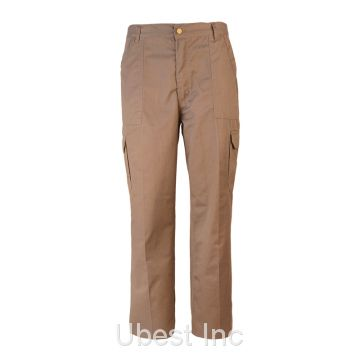 Hot Sale Men Outdoor Khaki Relaxed Straight-Fit Cargo Pants For Work