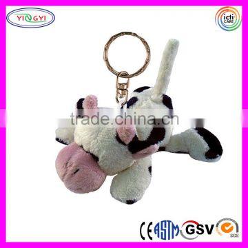 D393 Small Animal Cow Stuffed Keychain Plush Toy Cow Keychain Of