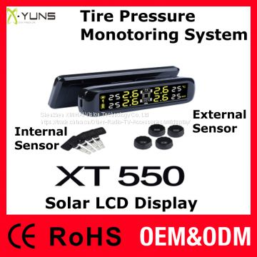 TPMS XT-550 External Internal Sensor Solar LCD Display with battery voltage indicator
