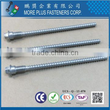 Taiwan 302SS Shoulder Bolt Hex Washer Head T-20 With Shoulder Unfderhead Double Thread Left Hand Thread Tapping Screw Passivated