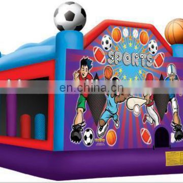 commercial inflatable combo, bouncer slide inflatable toys, slide jumper C5017