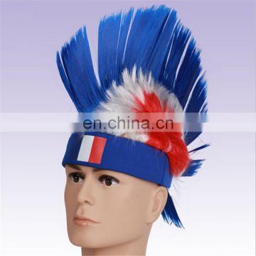 World Cup Colorful Football Fan China Wigs Hair DX