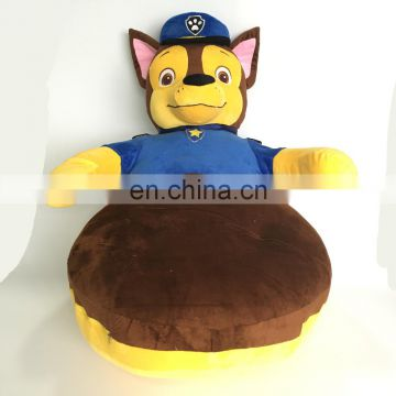 Officer commander cute stuffed plush dog functional custom kids gift cushion toy