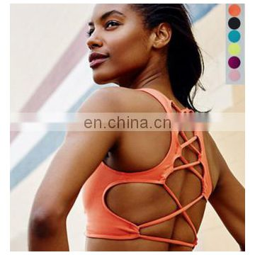 Gym Tank Top Stylish Sexy Cross Back Sports Bra Colorful Yoga Bra