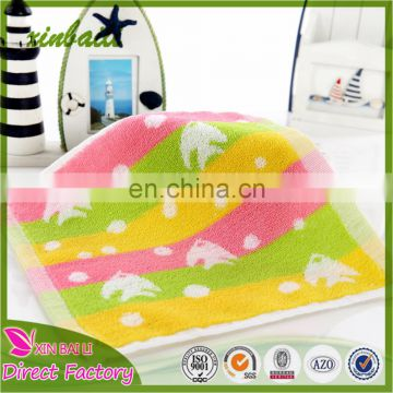 Wholesale Lovely Fish Design Jacquard 100% Cotton Small Hand Towel