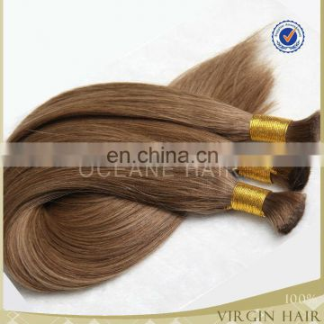 wholesle grade 7a Raw bulk hair / unprocessed human hair bulk ,double drawn hair, Vietnam hair