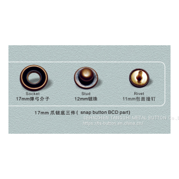 Brass prong snap button in occident style/Twelve prong snap button/Concise and vogue tinge style