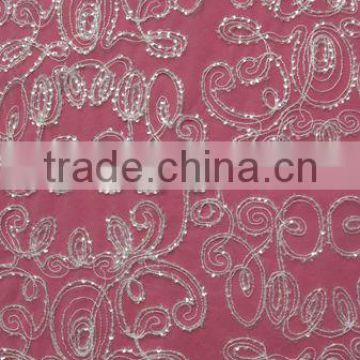 Manufacture Delicate Beaded Sequin Lace Fabric