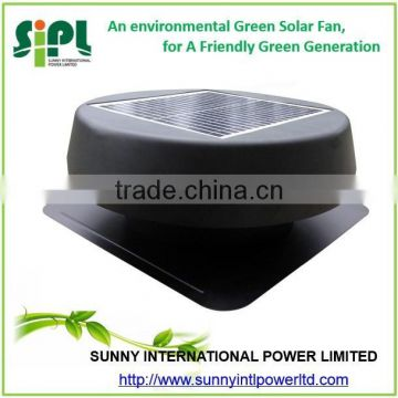 12 watt Solar Powered Air Extractor Roof Fan with Fixed Panel