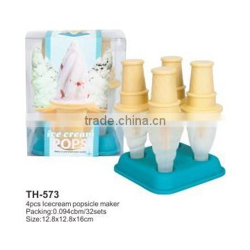 4pcs plastic icecream popsicle maker