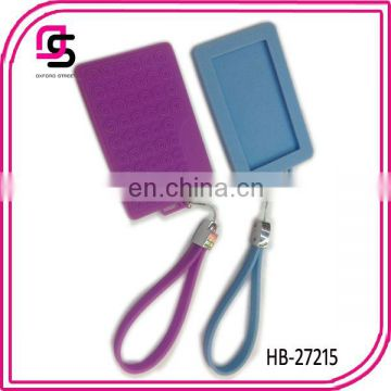 2014 fashion promotional candy color silicone id card holder