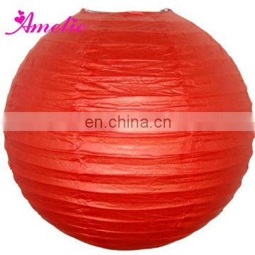 A104PL Pure Color 18'' Wedding Decoration Chinese Make Round Paper Lanterns