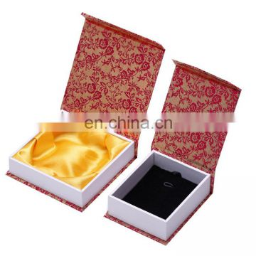 Traditional square jewelry box with mirror