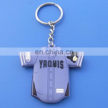 Rubber soft pvc sweater shape pvc keychain for promotion