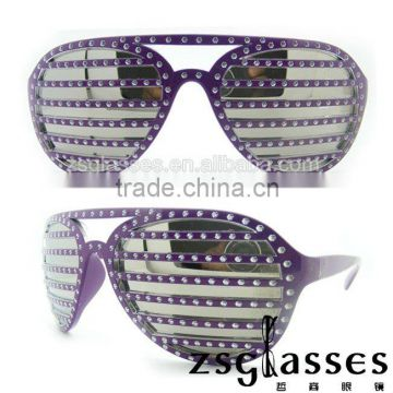 Factory custom gift sunglasses funny crazy rock party shutter shades sun glasses/eyewear/frame printing logo OEM                                                                         Quality Choice