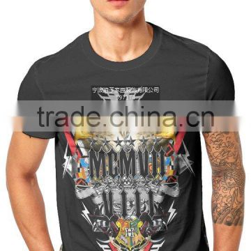 Wholesale 100% Polyester Custom T Shirt Printed Men's T Shirts