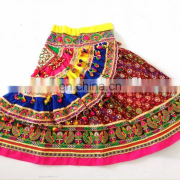Garba Chaniya Choli- Colored Kutchi Work Traditional Chaniya Choli- Navratri Chaniya CHoli