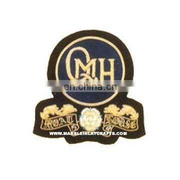 Zari Hand Embroidery Emblem Badges