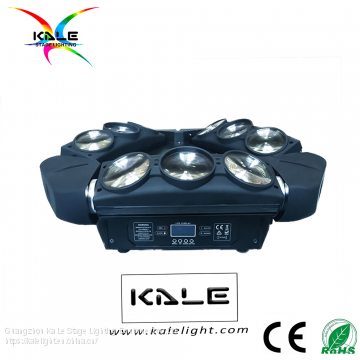 9pcs*10wLED Moving Spider Light RGBW 4in1 KTV cocktail bar guangzhou led moving head lighting Professional stage equipme