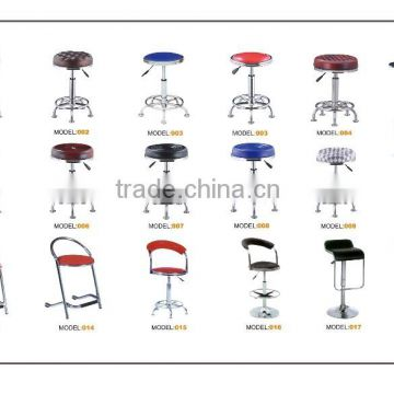 2016 new design simple plastic colorful bar chairs/gas lift bar stools/swivel bar chairs