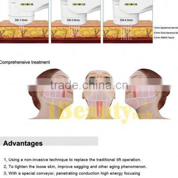 High Focused Ultrasonic Keywords Latest Hifu Slimming Eyes Wrinkle Removal Machine Eye Lines Removal