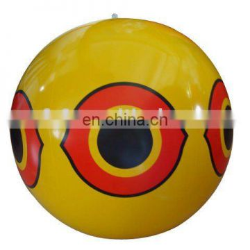 inflatable yellow beach ball for advertising