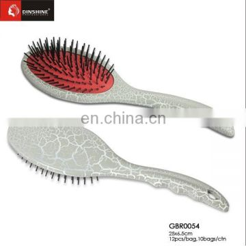 2015 new design oval plastic cushion hair brush