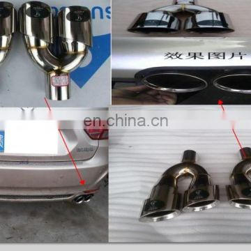 universal dual exhaust muffler tip for performance automobile